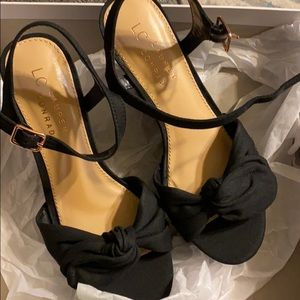 Lauren Conrad BRAND NEW Black Wedges with bow 6